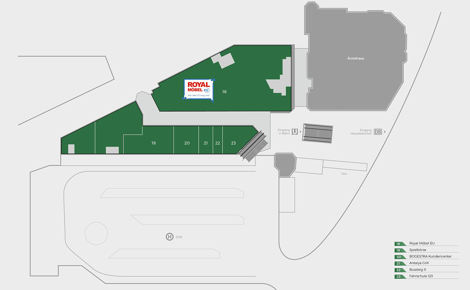 Bahnhofcenter Gelsenkirchen Obergeschoss